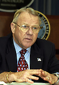 Retired United States General Jay Garner, who will head a post-war Iraqi civil administration, is photographed at the Pentagon in Washington, DC on March 11, 2003.  Garner's full, official title is Director, Office of Reconstruction and Humanitarian Assistance for Post-war Iraq.<br /> Mandatory Credit: Robert D. Ward / DoD via CNP