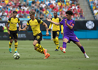 Charlotte, North Carolina - July 22, 2018: Bank of America Stadium, Liverpool vs Borussia Dortmund, International Champions Cup.