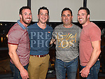 Twins Thomas and Stephen McDowell celebrating their 30th birthday in Brú with friends Wayne Tracey and Tony McDowell. Photo:Colin Bell/pressphotos.ie