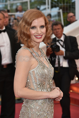 CANNES, FRANCE - MAY 12: Jessica Chastain at&acute;Money Monster` screening - 69th Cannes Film Festival, France May 12, 2016.<br /> CAP/PL<br /> &copy;Phil Loftus/Capital Pictures /MediaPunch ***NORTH AND SOUTH AMERICA ONLY***