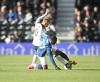Blackburn Rovers Amari'i Bell battles with  Derby County's Louie Sibley<br /> <br /> Photographer Mick Walker/CameraSport<br /> <br /> The EFL Sky Bet Championship - Derby County v Blackburn Rovers - Sunday 8th March 2020  - Pride Park - Derby<br /> <br /> World Copyright © 2020 CameraSport. All rights reserved. 43 Linden Ave. Countesthorpe. Leicester. England. LE8 5PG - Tel: +44 (0) 116 277 4147 - admin@camerasport.com - www.camerasport.com
