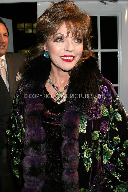 WWW.ACEPIXS.COM . . . . . ....NEW YORK, FEBRUARY 27, 2005....Joan Collins at Entertainment Weekly's Academy Awards party at Elaine's.....Please byline: ACE009 - ACE PICTURES.. . . . . . ..Ace Pictures, Inc:  ..Philip Vaughan (646) 769-0430..e-mail: info@acepixs.com..web: http://www.acepixs.com