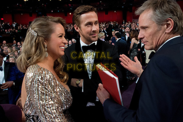 Mandi Gosling, Ryan Gosling and Viggo Mortensen at the live ABC Telecast of The 89th Oscars&reg; at the Dolby&reg; Theatre in Hollywood, CA on Sunday, February 26, 2017.<br /> *Editorial Use Only*<br /> CAP/PLF/AMPAS<br /> Supplied by Capital Pictures