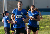 Kansas City, MO - Sunday July 02, 2017:  Yael Averbuch during warmups before a regular season National Women's Soccer League (NWSL) match between FC Kansas City and the Houston Dash at Children's Mercy Victory Field.