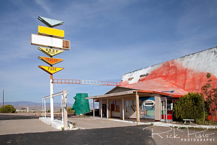 Kozy Corner Trailer Park along Route 66 in Arizona