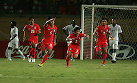 The South Korea team celebrates Young Gwon Kim (5)'s goal during the FIFA Under 20 World Cup Group C match between the United States and South Korea at the Mubarak Stadium on October 02, 2009 in Suez, Egypt. The US team lost 3-0.