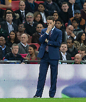 England Caretaker Manager (Head Coach) Gareth Southgate during the International Friendly match between England and Spain at Wembley Stadium, London, England on 15 November 2016. Photo by Andy Rowland.