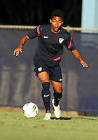 MIAMI, FL - DECEMBER 21, 2012:  Darius Madison of the USA MNT U20 during a closed scrimmage with the Venezuela U20 team, on Friday, December 21, 2012, At the FIU soccer field in Miami.  USA won 4-0.