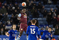 Aston Villa's Keinan Davis heads clear <br /> <br /> Photographer Andrew Kearns/CameraSport<br /> <br /> The Premier League - Leicester City v Aston Villa - Monday 9th March 2020 - King Power Stadium - Leicester<br /> <br /> World Copyright © 2020 CameraSport. All rights reserved. 43 Linden Ave. Countesthorpe. Leicester. England. LE8 5PG - Tel: +44 (0) 116 277 4147 - admin@camerasport.com - www.camerasport.com