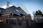 A solitary supporter walking around the stadium before West Bromwich Albion take on Leeds United in a SkyBet Championship fixture at the Hawthorns. Formed in 1878, the home team were relegated from the English Premier League the previous season and were aiming to close the gap on the visitors at the top of the table. Albion won the match 4-1 watched by a near-capacity crowd of 25,661.