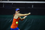 ATHENS, GA - MAY 23: Belinda Woolcock of the University of Florida hits the ball during the Division I Women's Tennis Championship held at the Dan Magill Tennis Complex on the University of Georgia campus on May 23, 2017 in Athens, Georgia. (Photo by Steve Nowland/NCAA Photos via Getty Images)