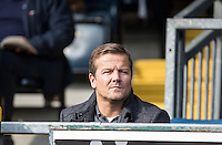 Former Swindon Town Manager Mark Cooper watches in the stands during the Sky Bet League 2 match between Wycombe Wanderers and Stevenage at Adams Park, High Wycombe, England on 12 March 2016. Photo by Andy Rowland/PRiME Media Images.