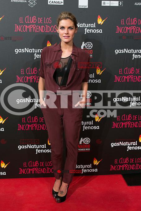 Amaia Salamanca attend the Premiere of the movie &quot;El club de los incomprendidos&quot; at callao Cinema in Madrid, Spain. December 1, 2014. (ALTERPHOTOS/Carlos Dafonte) /NortePhoto<br /> /NortePhoto