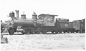 RGS 2-8-0 #6 in Alamosa scrap line.<br /> RGS  Alamosa, CO  Taken by Rogers, Donald E. A. - ca. 1935