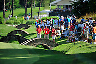 Bethesda, MD - June 29, 2014: Fans and spectators await golfers at the Quicken Loans National at Congressional Country Club in Bethesda MD. (Photo by Phillip Peters/Media Images International)