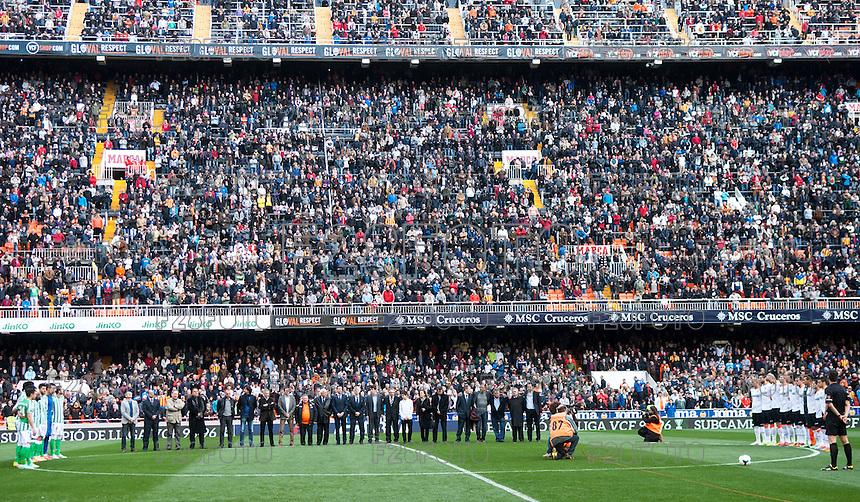 Jornada 23 de Liga BBVA 13/14, Valencia - Betis el 8 de Febrero de 2014 en el estadio Mestalla (Valencia) // 23 match of BBVA league 13/14, Valencia - Betis, 8 february 2014, stadium Mestalla (Valencia)