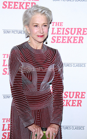 NEW YORK, NY January 11, 2018:Helen Mirren attend Sony Pictures Classics  present screening of The Leisure Seeker  at AMC Loews Lincoln Square  in New York City.January  11, 2018. Credit:RW/MediaPunch