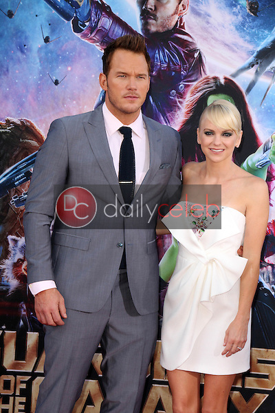 """Anna Faris, Chris Pratt<br /> at the """"Guardians Of The Galaxy"""" Premiere, Dolby Theater, Hollywood, CA 07-21-14<br /> David Edwards/Dailyceleb.com 818-249-4998"""