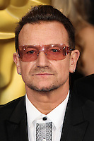 HOLLYWOOD, LOS ANGELES, CA, USA - MARCH 02: Bono at the 86th Annual Academy Awards held at Dolby Theatre on March 2, 2014 in Hollywood, Los Angeles, California, United States. (Photo by Xavier Collin/Celebrity Monitor)
