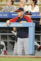 05/13/13 Los Angeles, CA: Washington Nationals manager Davey Johnson #5 in a MLB game played between the Los Angeles Dodgers and the Washington Nationals at Dodger Stadium. The Nationals defeated the Dodgers 6-2