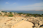 Israel, Sea of Galilee, ruins of the Roman city in Tiberias, the theater