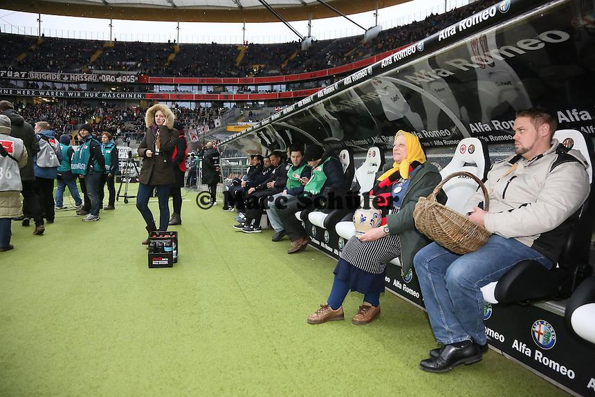 neue Trainerbank von Eintracht Frankfurt  - Eintracht Frankfurt vs. Eintracht Braunschweig, Commerzbank Arena