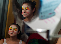 MEDELLIN -COLOMBIA. 25-08-2013. Doña Pánfaga y El Sanalotodo_Casa del teatro (prado centro) durante la Fiesta de las Artes Escenicas en la ciudad de Medellin. Photo: VizzorImage / Str
