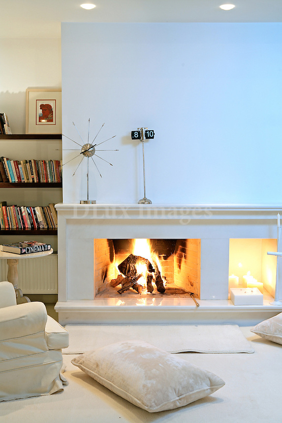 modern contemporary fireplace