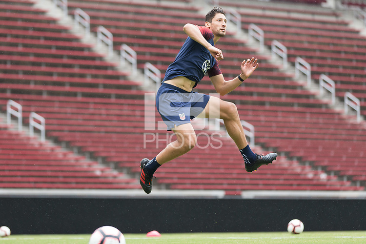 Cincinnati, OH - June 8, 2019: The USMNT train at Nippert Stadium.