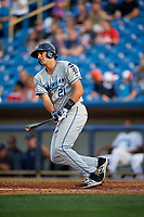 West Michigan Whitecaps first baseman Daniel Pinero (21) follows through on a swing during the first game of a doubleheader against the Lake County Captains on August 6, 2017 at Classic Park in Eastlake, Ohio.  Lake County defeated West Michigan 4-0.  (Mike Janes/Four Seam Images)