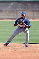 Delvis Morales #95 of the Los Angeles Dodgers participates in spring training workouts at the Dodgers minor league complex on March 24, 2011 in Glendale, Arizona. .Photo by:  Bill Mitchell/Four Seam Images.