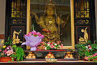 Buddhist shrine at Wenshu Temple, Chengdu, Sichuan, China.