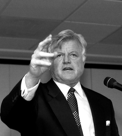 Senator Edward Kennedy delivering the keynote speech at The AIDS Public Policy Institute, a forum to teach community organizers how to participate in the legislative process at the Holiday Inn on Charles Street in Boston, MA 9.27.93