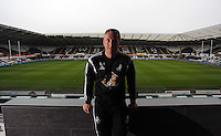 Pictured: Swansea manager Garry Monk at the Liberty Stadium, south Wales. Friday 08 May 2015