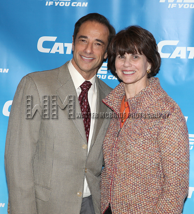Producers Hal Luftig & Margo Lion.attending Meet & Greet for the New Broadway Musical 'Catch Me If You Can'  at the 42ns Street Rehearsal Studios in New York City.