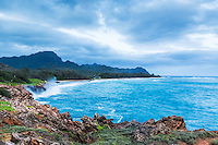 Punahoa Point south of Poipu, Hawaii on the Island of Kauai