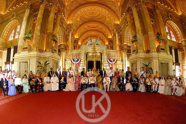 Foreign monarchs express their best wishes to His Majesty at the Anda Samakhom Throne Hall during the celebrations to mark the 60th anniversary of Thai King Bhumibol Adulyadej's accession to the throne...Pool Picture supplied by UK Press Ltd