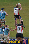 James Maher gets easy lineout ball. Air New Zealand Cup pre-season rugby game between the Counties Manukau Steelers & Northland, played at Growers Stadium on July 21st, 2007. Counties Manukau won 28 - 17.
