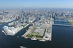 Olympic Village: Tokyo, Japan: Aerial view of proposed venue for the 2020 Summer Olympic Games. (Photo by AFLO)