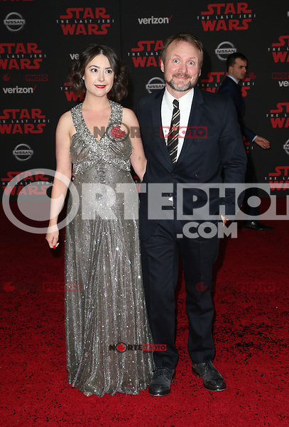 LOS ANGELES, CA - DECEMBER 9: Karina Longworth, Rian Johnson, at Premiere Of Disney Pictures And Lucasfilm's 'Star Wars: The Last Jedi' at Shrine Auditorium in Los Angeles, California on December 9, 2017. Credit: Faye Sadou/MediaPunch /NortePhoto.com NORTEPHOTOMEXICO