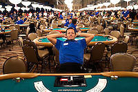 Players compete at the 36th annual World Series of Poker at the Rio on Friday July 8, 2005 in Las Vegas, Nevada. Thursday marked the start of the no-limit Texas hold'em main event. Approximately 5,600 players are competing for a chance to win the first-place prize of roughly $7.5 million. (Photo by Landon Nordeman)
