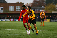 Dominic Knowles of Boston United during Carshalton Athletic vs Boston United, Emirates FA Cup Football at the War Memorial Sports Ground on 9th November 2019