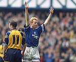 Erik Bo Andersen celebrates after scoring his first goal for Rangers in March 1996. The Danish striker scored two that afternoon against Falkirk at Ibrox