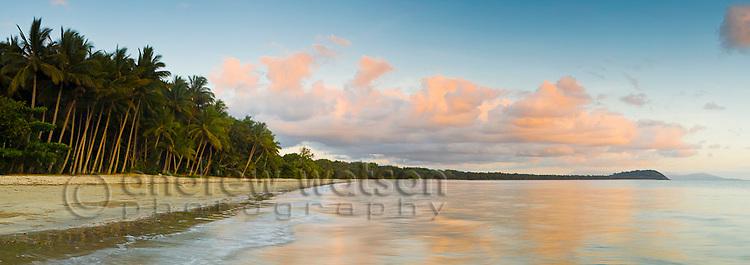 Four Mile Beach at dawn.  Port Douglas, Queensland, Australia