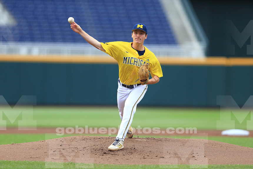 The University of Michigan baseball team was defeated by Nebraska 5-1 during their last game of the 2014 Big Ten Tournament. Omaha, NE, May 24, 2014