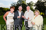 Pictured Brigeen O Sullivan, Derry O'Sullivan, Richard Bono and Elenor Bono.The outgoing President of the Rotary club handing over the chain of office at the Rotary Club Annual Presidents Ball at Ballygarry House Hotel on Friday night