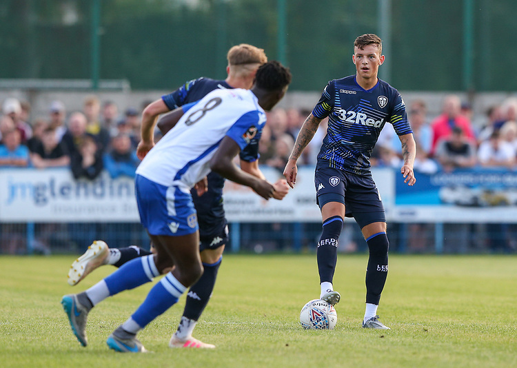 Leeds United's Ben White<br /> <br /> Photographer Alex Dodd/CameraSport<br /> <br /> Football Pre-Season Friendly - Guiseley v Leeds United - Thursday July 11th 2019 - Nethermoor Park - Guiseley<br /> <br /> World Copyright © 2019 CameraSport. All rights reserved. 43 Linden Ave. Countesthorpe. Leicester. England. LE8 5PG - Tel: +44 (0) 116 277 4147 - admin@camerasport.com - www.camerasport.com