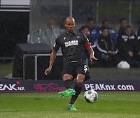 David Pisot (Karlsruher SC) - 04.10.2019: SV Darmstadt 98 vs. Karlsruher SC, Stadion am Boellenfalltor, 2. Bundesliga<br /> <br /> DISCLAIMER: <br /> DFL regulations prohibit any use of photographs as image sequences and/or quasi-video.