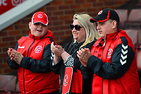 Fleetwood Town fans applaud<br /> <br /> Photographer Richard Martin-Roberts/CameraSport<br /> <br /> The EFL Sky Bet League One - Barnsley v Fleetwood Town - Saturday 13th April 2019 - Oakwell - Barnsley<br /> <br /> World Copyright &copy; 2019 CameraSport. All rights reserved. 43 Linden Ave. Countesthorpe. Leicester. England. LE8 5PG - Tel: +44 (0) 116 277 4147 - admin@camerasport.com - www.camerasport.com