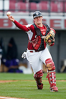 South Carolina Gamecocks catcher Phil Disher (50) during fielding practice at the Sarge Frye Field in Columbia, SC, Sunday, February 24, 2008.